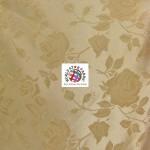 Floral Roses Jacquard Satin Fabric Khaki