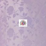 Floral Roses Jacquard Satin Fabric Lavender