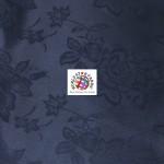 Floral Roses Jacquard Satin Fabric Navy