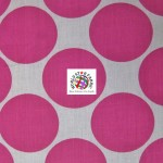 Giant Polka Dot Poly Cotton Fabric Fuchsia