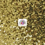 Rain Drop Sequin Taffeta Fabric Gold