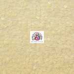 Rain Drop Sequin Taffeta Fabric Ivory