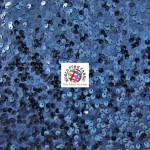 Rain Drop Sequin Taffeta Fabric Navy Blue