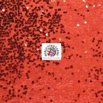 Rain Drop Sequin Taffeta Fabric Red