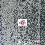 Rain Drop Sequin Taffeta Fabric Silver