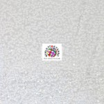 Rain Drop Sequin Taffeta Fabric White
