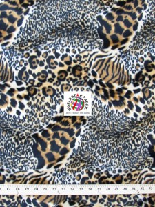 Tiger Velboa Faux Fur Fabric Hybrid