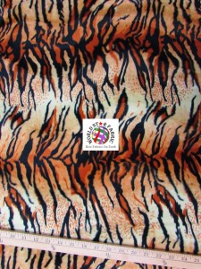 Tiger Velboa Faux Fur Fabric Orange