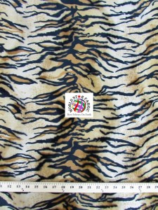 Tiger Velboa Faux Fur Fabric Siberian