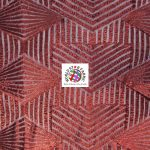 Cosmic Geometric Sequin Fabric Burgundy