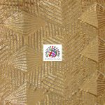 Cosmic Geometric Sequin Fabric Gold