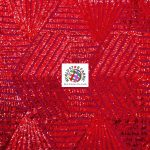 Cosmic Geometric Sequin Fabric Red