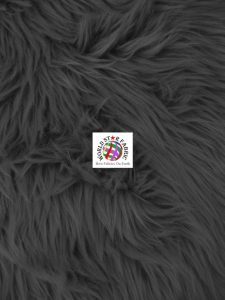 Grizzly Shaggy Fur Fabric Black