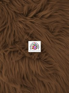 Grizzly Shaggy Fur Fabric Brown