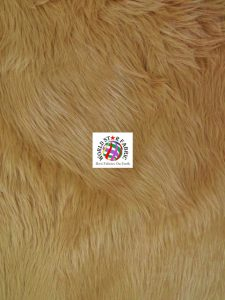 Grizzly Shaggy Fur Fabric Camel