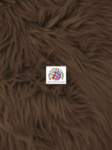 Grizzly Shaggy Fur Fabric Dark