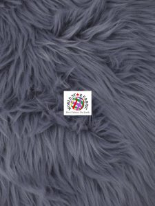 Grizzly Shaggy Fur Fabric Gray