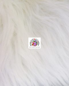 Grizzly Shaggy Fur Fabric Ivory