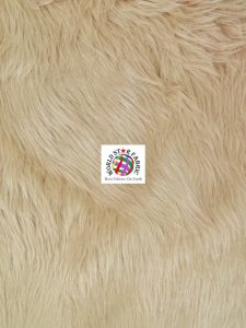 Grizzly Shaggy Fur Fabric Light
