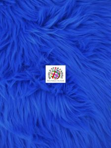 Grizzly Shaggy Fur Fabric Royal