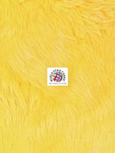 Grizzly Shaggy Fur Fabric Yellow