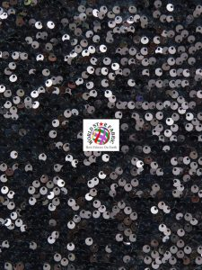 Shiny Rain Drop Sequin Velvet Fabric Black