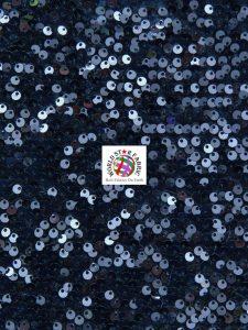 Shiny Rain Drop Sequin Velvet Fabric Navy Blue