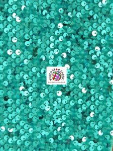 Shiny Rain Drop Sequin Velvet Fabric Turquoise