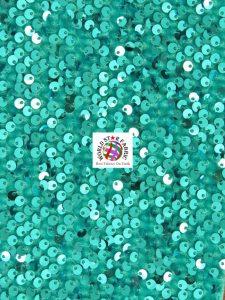 Shiny Rain Drop Sequin Velvet Fabric Turquoise