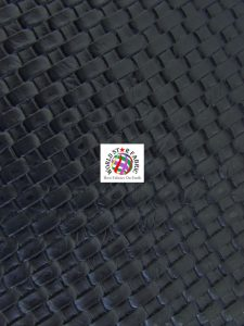 Lattice Basket Weave Vinyl Fabric Black