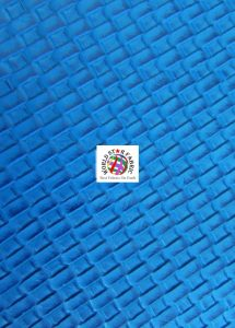 Lattice Basket Weave Vinyl Fabric Blue
