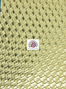 Lattice Basket Weave Vinyl Fabric Gold