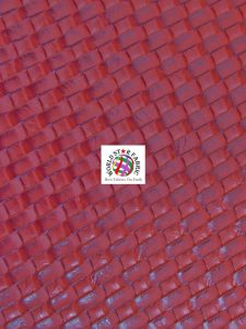 Lattice Basket Weave Vinyl Fabric Red