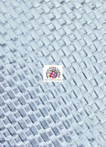 Lattice Basket Weave Vinyl Fabric Silver