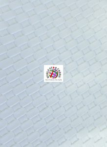 Lattice Basket Weave Vinyl Fabric White