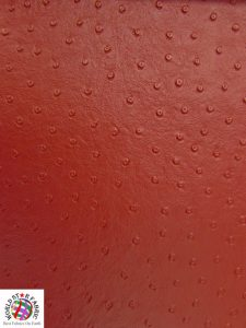 Ostrich Embossed Upholstery Vinyl Fabric Red
