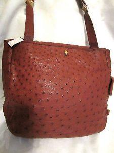 Ostrich Vinyl Handbag Purse