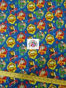 Badge PAW Patrol Print Cotton Fabric Cotton Fabric