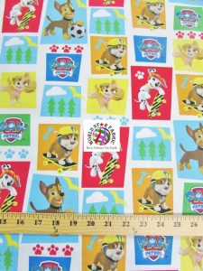 Rad Pups PAW Patrol Print Cotton Fabric