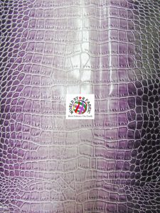 Shiny Dragon Alligator Vinyl Fabric Lilac