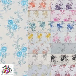 Stunning Floral Sequins Fabric