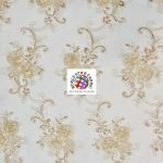 Stunning Floral Sequins Fabric Champagne