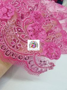 Stunning Floral Sequins Fabric Close Up