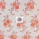 Stunning Floral Sequins Fabric Coral