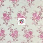 Stunning Floral Sequins Fabric Dusty