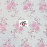 Stunning Floral Sequins Fabric Pink