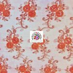 Stunning Floral Sequins Fabric Red