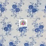 Stunning Floral Sequins Fabric Royal