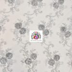 Stunning Floral Sequins Fabric Silver