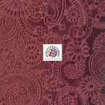 Future Paisley Velvet Fabric Burgundy